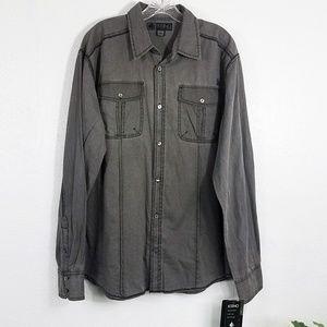 New * Ksino Men's Button Down Long Sleeve Shirt